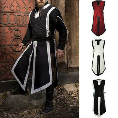 Mens Renaissance Knight Tunic Top Cosplay Costume Party Fancy Dress Kaftan Robe - Renaissance Robes
