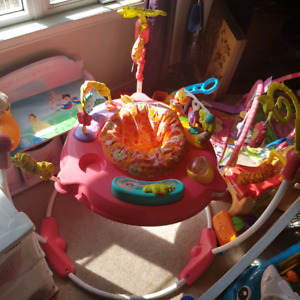 fisherprice pink pedals jumperoo