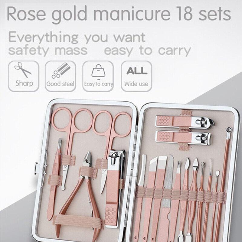 7 18pcs manicure pedicure set nail clippers