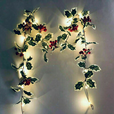2M LED Red Berry Fairy String Lights Xmas Christmas Garland Ornaments Decoration