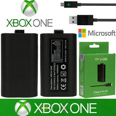 For Xbox One X S Play and Charge Kit Rechargeable...
