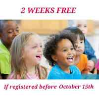 2 WEEKS OF SERVICE FREE! $8 DAYCARE/GARDERIE in Cote Des Neiges