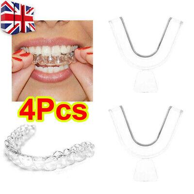 4X Gum Shield Teeth Whitening Mouth Trays Guard Reusable Bleaching Grinding G