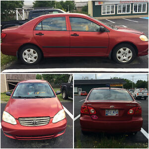 2003 Toyota Corolla Sedan TEXT OR CALL