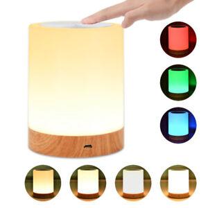 Portable Lamp w/ Internal Battery Dimmable Warm White RGB Light