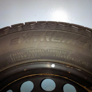 215/60 R16 Continental Extreme Winter Contact on steel rims