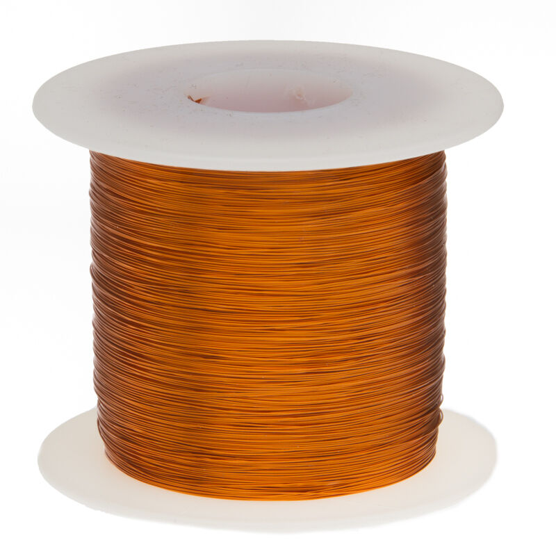 28 AWG Gauge Enameled Copper Magnet Wire 1.0 lbs 1987