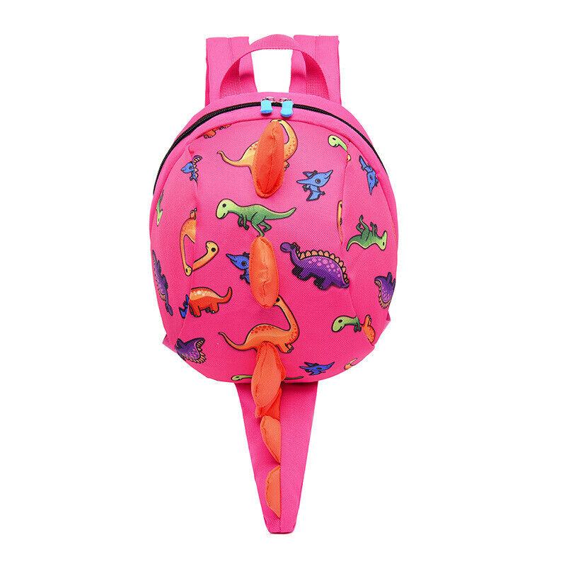Children Kid Book Backpack AntiLost Cartoon Dinosaur Travel School Shoulder Bag