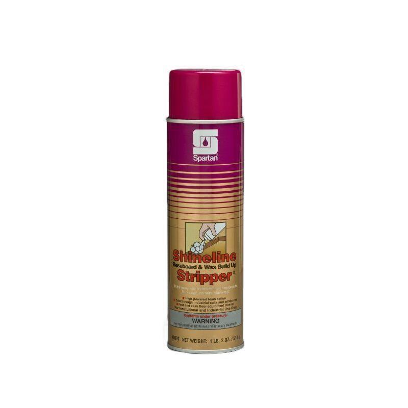 Spartan Shineline Baseboard and Wax Stripper, 20 oz aerosol, 12 Per Case