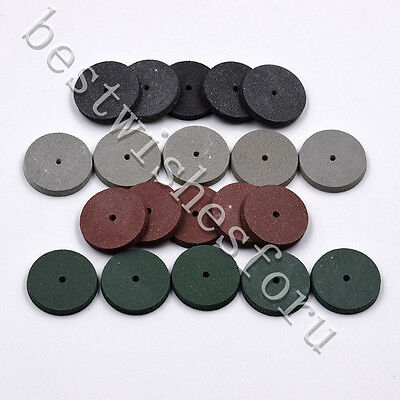 Coarse Dental Polishing Wheels Bur Silicone Rubber Rotary 4 Grit Abrasive Select