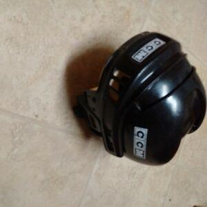 Toddler CCM Vector4 Hockey Helmet for a 4 Years in Black