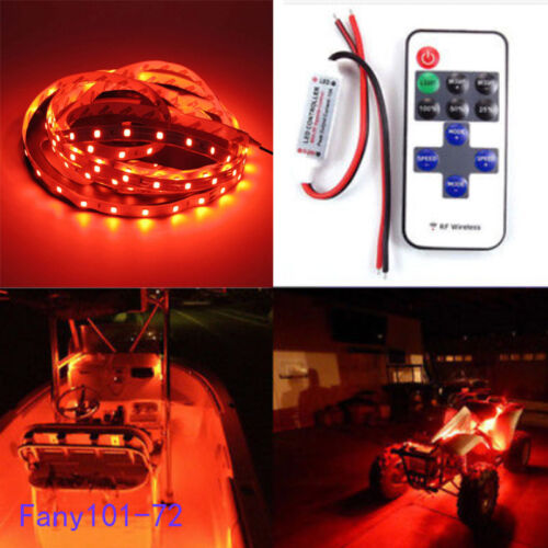 12v Red LED Boat Light Deck Waterproof Bow Trailer Pontoon Lights Kit Marine