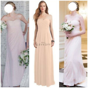 Bill Levkoff Bridesmaid Dress # 1121 in Shell Pink - Size ~0-2