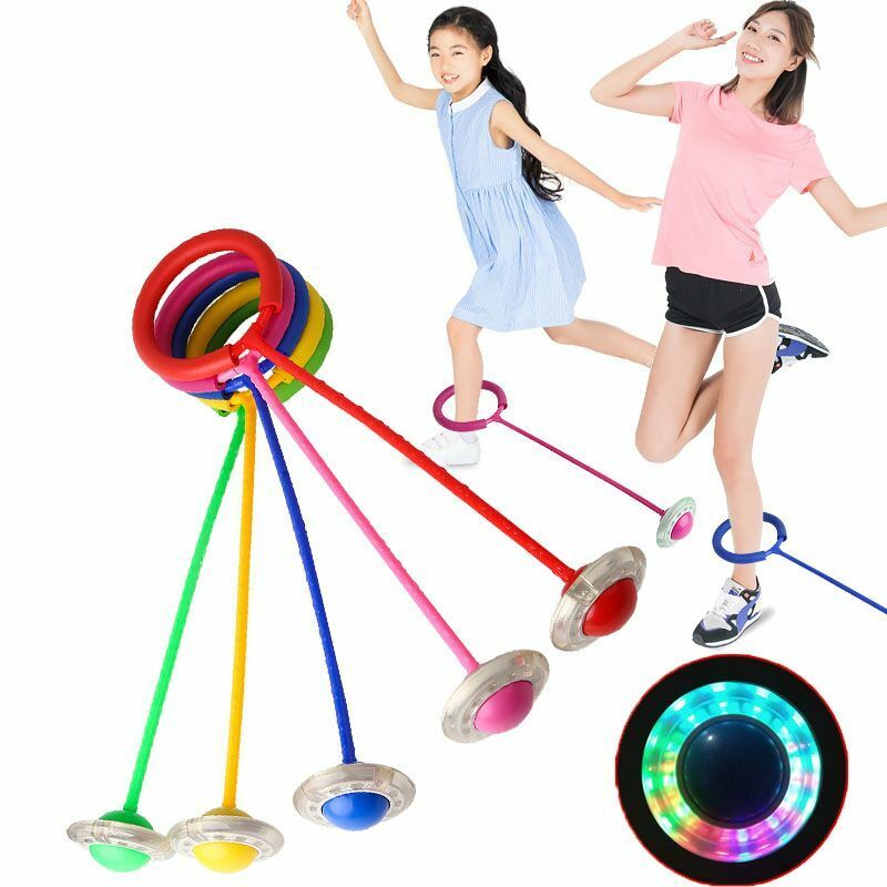 NEW LED Skipping Rope Ring Jump Swing Ball Ankle Jumping Ball Children Toys DHL