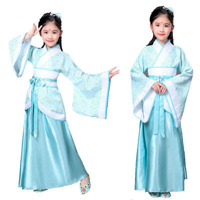 Children's clothing girl princess dress fairy tale traditional Chinese Hanfu Tan