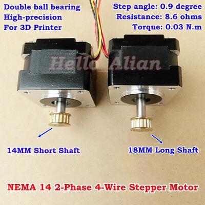 0.9 Deg Nema14 2-phase 4-wire 35mm Stepper Motor Pulley Diy Cnc 3d Printer Robot