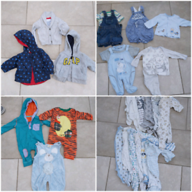 0-3 month bundle Including coats, outfits and 12 sleepsuits. Excellent