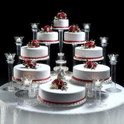 Tiered Cake Stand (8 TIER CASCADE WEDDING CAKE STAND OR CAKE)