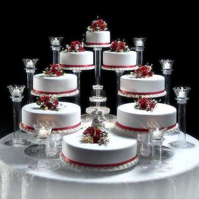 8 TIER CASCADE WEDDING CAKE STAND OR CAKE FOUNTAIN
