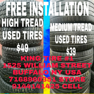 Used tires all sizes starting at $20 smaller sizes
