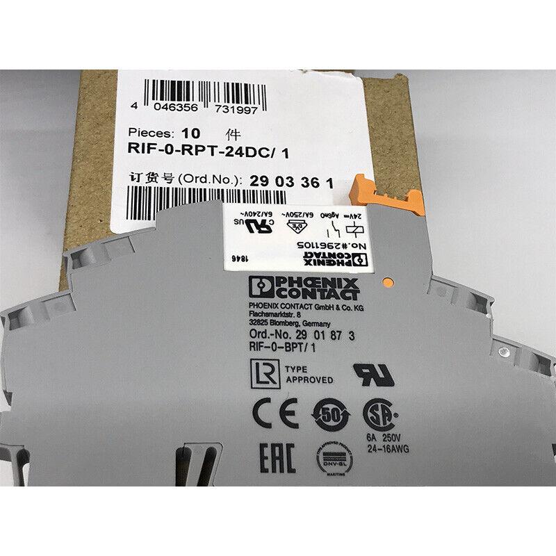 5PCS RIF-0-RPT-24DC-1 NO.2903361 No.#2961105  Power Relay with No.2901873 socket