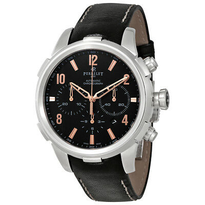 Perrelet Class-T Automatic Mens Chronograph Leather Watch A1069/3
