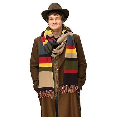 Doctor Who Schal (Doctor Who 4th Dr. Tom Baker Schal mit Klunker vom Vierten Doktor Kostüm Pro)