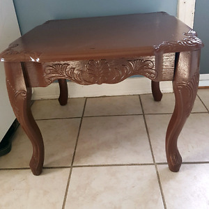 Chocolate Brown solid wood accent table