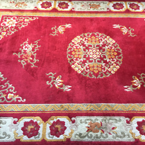 INDIAN WOOL RUG, 67 x 107 inches