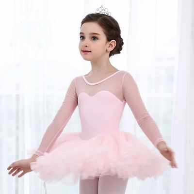 US Princess Girl Kid Ballet Tutu Gymnastics Leotard Skirt Tutu Dance Dress 4-15Y - Girls Leotard