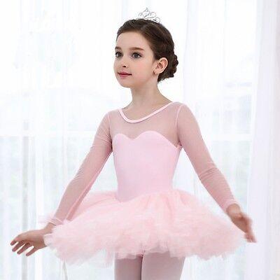 US Princess Girl Kid Ballet Tutu Gymnastics Leotard Skirt Tutu Dance Dress 4-15Y - Tutu Dress