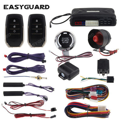 EASYGUARD PKE car anti theft alarm remote start push to start kit shock warning comprar usado  Enviando para Brazil