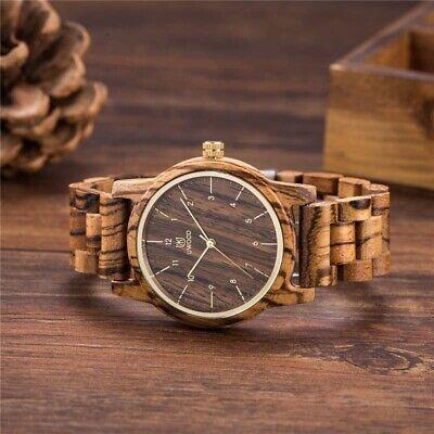 Herren Holz Uhr Quarz Armbanduhr Massive Herrenuhr Uhren Handgefertigt