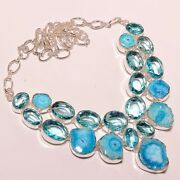 925 Silver Necklace Topaz