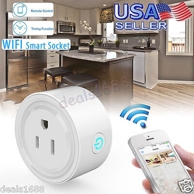 WiFi Smart Socket Phone Remote Control Timer Switch Power Socket Outlet Plug US