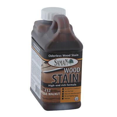 Interior Water Based Wood Stain - Saman 5950694 Interior Water Based Wood Stain, Antique Walnut, 32 Oz
