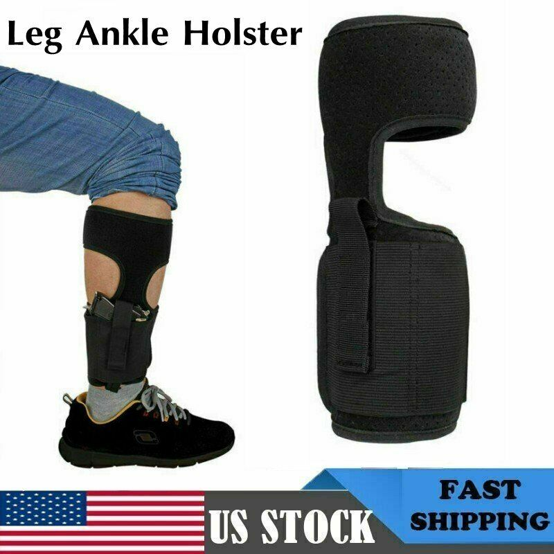 Concealed Pistol Gun Ankle Leg Holster Gun Revolver Carry Wrap Pocket Bag