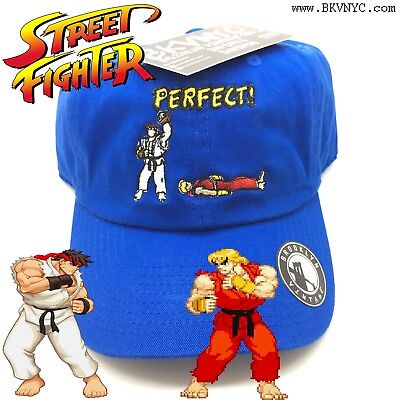 Royal Blue Street Fighter Perfect Dad Cap Hat