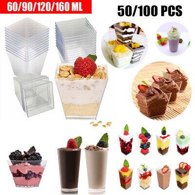 60ml Dessertschalen Transparent Eisbecher Plastikschälchen Einwegbecher
