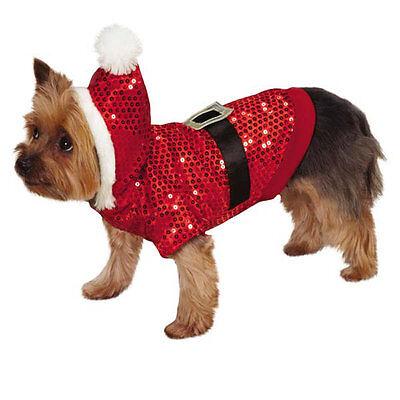 Top Paw XL Sequin Hooded Santa Suit - Christmas - SALE BENEFITS RESCUE - Santa Suit Sale