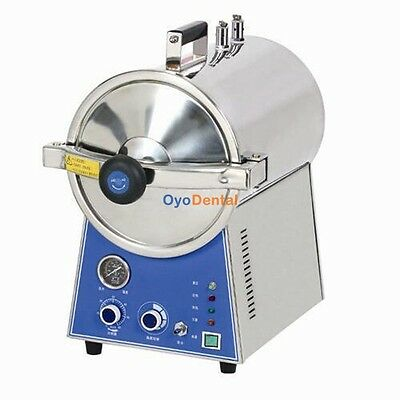 Dental Medical High Pressure Steam Autoclave Sterilizer Stainless Steel 24l