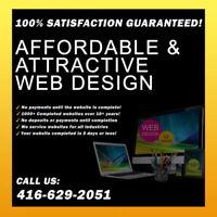 ❤️❤️✔️$199 Web Design+SEO⭐️100% SATISFACTION!☎️416.629.2051❤️❤️