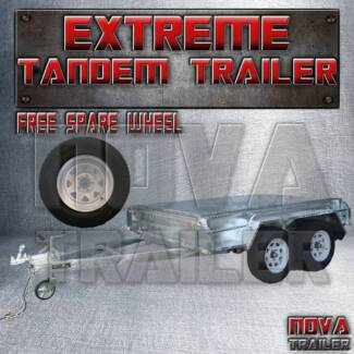 ☖8x5 Hot Dipped Tilt No cage Tandem Box Trailers ☖
