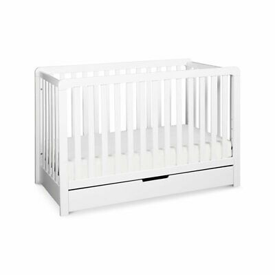 Carter's By DaVinci Colby 4-In-1 Convertible Crib With Trundle Drawer in White