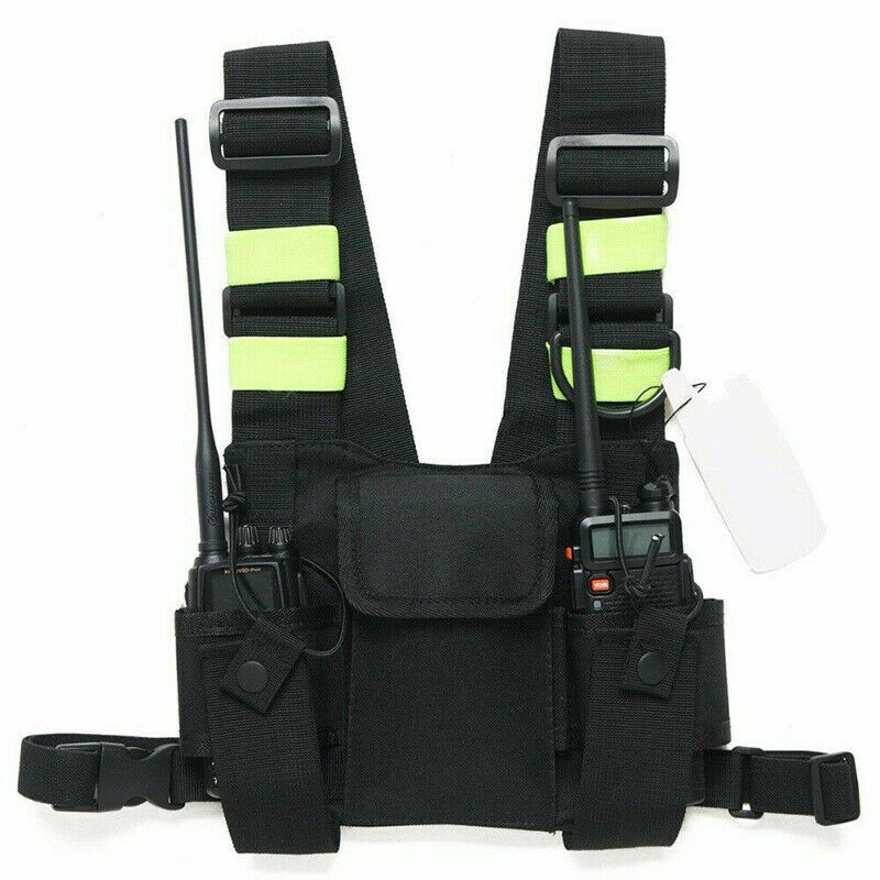 Radio Chest Harness Pocket Talkie Chest Holster Vest Bag for UV-5R Two Way Radio