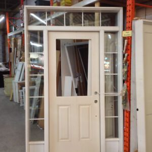 Brand New Entry Door with Transom and Sidelights