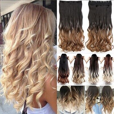 DE Top Qualität Haarverdichtung Hair Extensions gewellt blond Haarteile Perücke ()
