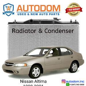 New Condenser and Radiator Nissan Altima 1998-2001