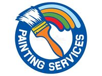 Painting , decorating and walpapering services. Son and Father.