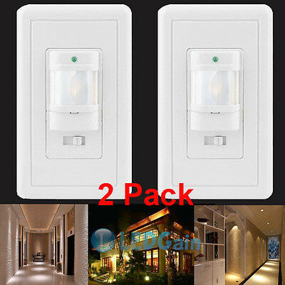 2Auto On/Off Infrared PIR Occupancy Vacancy Motion Sensor Wall Light Lamp Switch